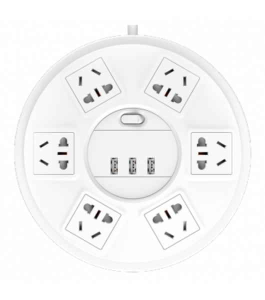 Сетевой фильтр (патч-панель) Xiaomi Top Tech Patch Panel 3 Socket + 3 USB